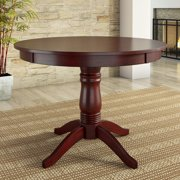 "Lexington 42"" Round Wood Pedestal Base Dining Table, Multiple Finishes"
