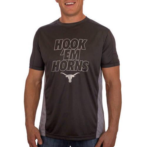 Russell NCAA Texas Longhorns Big Men's Athletic Fit Black / Storm Gray Impact Tee