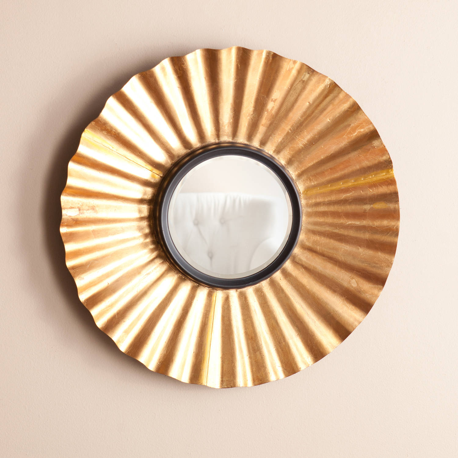 Southern Enterprises Modena Decorative Mirror, Distressed Gold