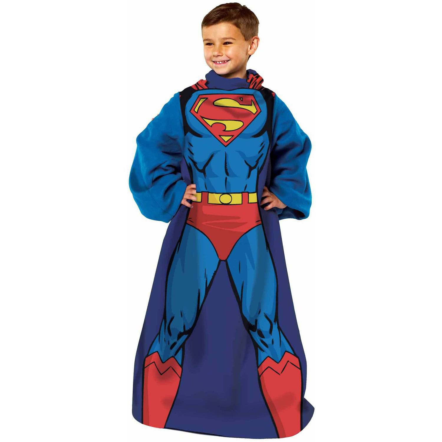"Warner Bros. Superman ""Being Action Superman"" Youth Comfy Throw"