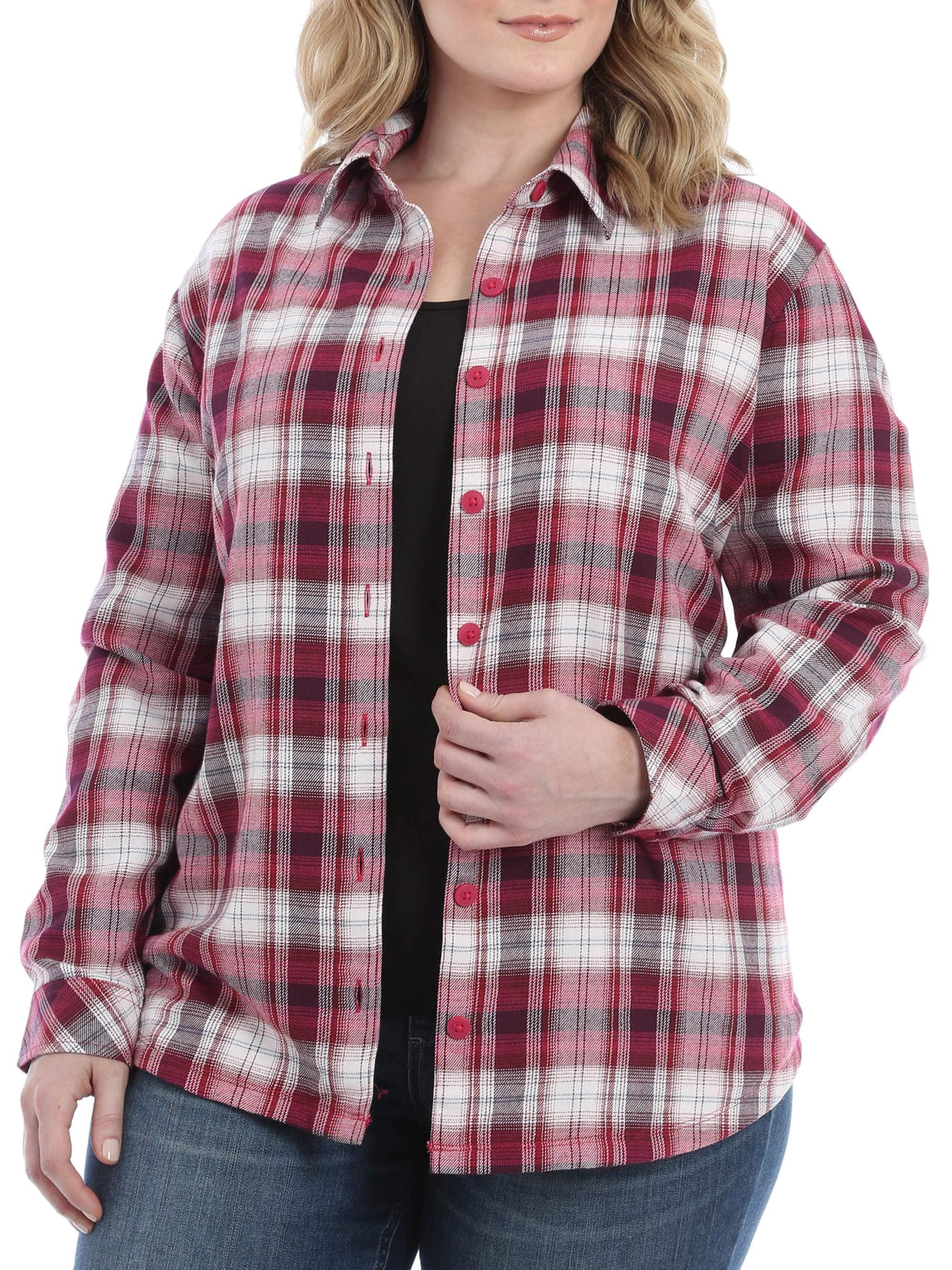 Lee Riders Women's Plus Fleece Lined Flannel Shirt