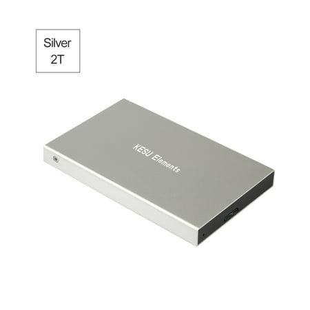 Portable External Hard Drive USB 3.0 120G.160G.250G.320G.500G HDD External HD Hard Disk for PC Silvery&2T Ricoh Hard Disk Drive