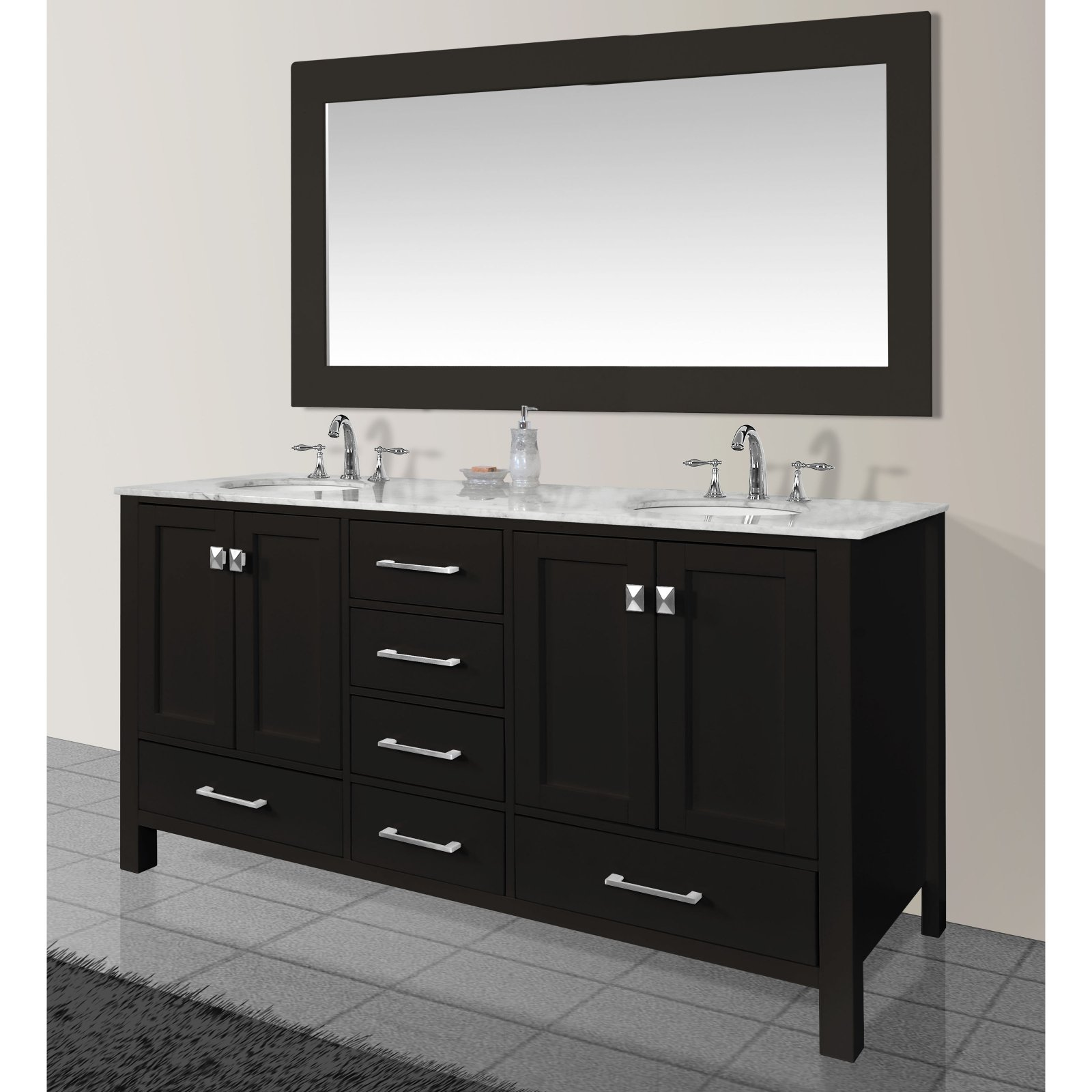 Stufurhome Malibu 72 in. Double Sink Bathroom Vanity - Walmart.com