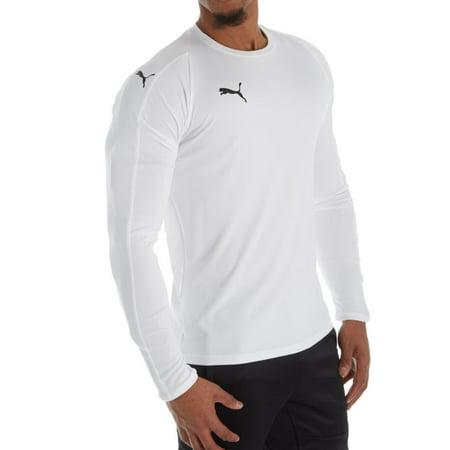 345503e13a2e6 Men's Puma 703419 LIGA Core Long Sleeve Performance Jersey T-Shirt