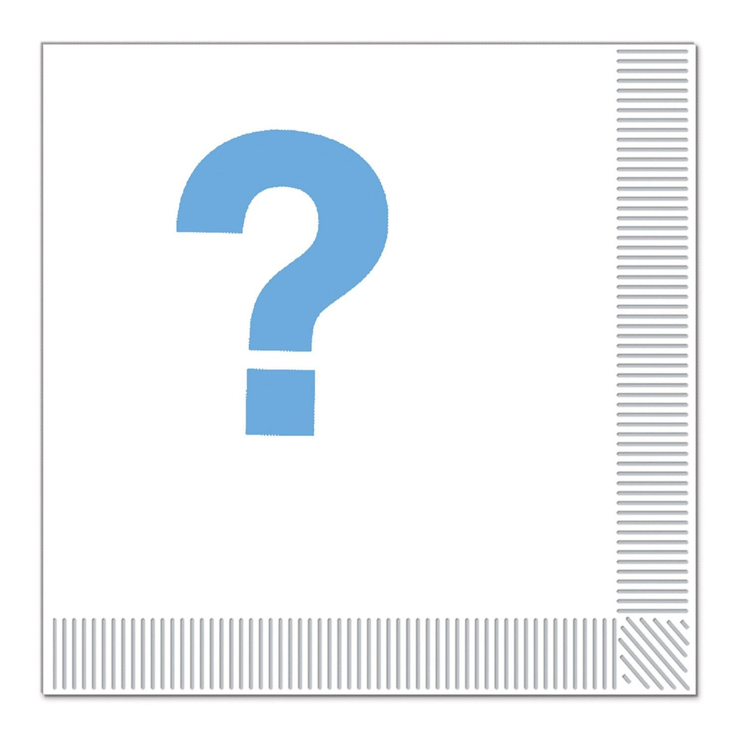 Club Pack of 192 Blue and White Team Blue 2-Ply Disposable Party Luncheon Napkins