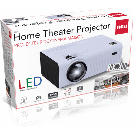 RCA 480P LCD Home Theater Projector - Up To 130