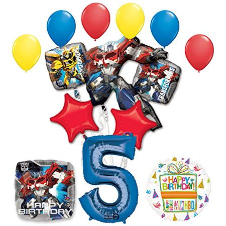 The Ultimate Transformers 5th Birthday Party Supplies and Balloon Decorations](Transformers Party Decorations)