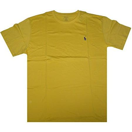 Polo Ralph Lauren Mens Pony Logo Crew-Neck Short Sleeve T-Shirt (M, Oasis Yellow)