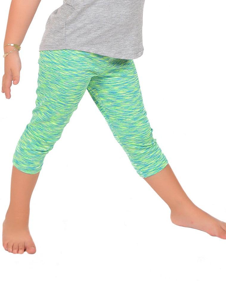 Girl's Capri Leggings - Small (6) / Beige