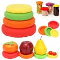 4Pcs Flexible Silicone Fruit Vegetable Food Huggers Storage