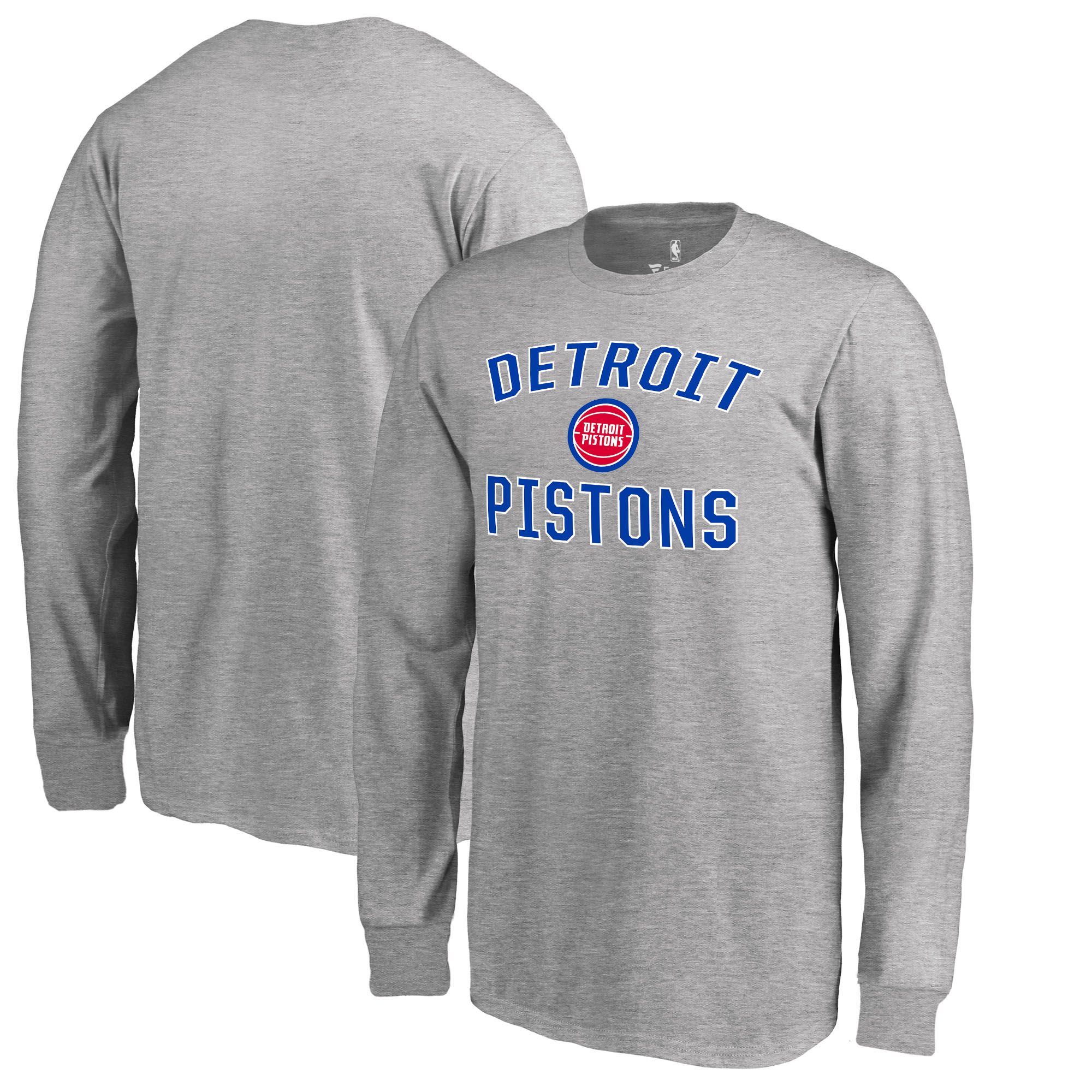 Detroit Pistons Fanatics Branded Youth Victory Arch Long Sleeve T-Shirt - Heathered Gray
