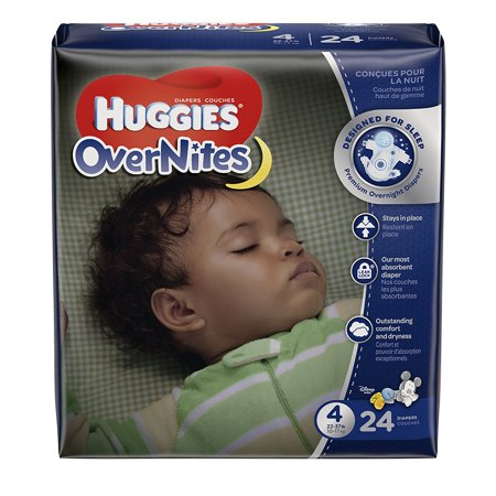 Overnites Diapers  Size 4  24 Ct   Overnight Diapers  Designed For Sleep  And A Sounder Sleep For Baby Is Guaranteed Or Your Money Back  By Huggies Ship From Us