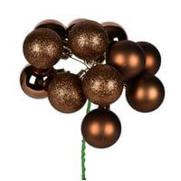 "12"" Mocha Ball Ornament Pick 4/Bag"