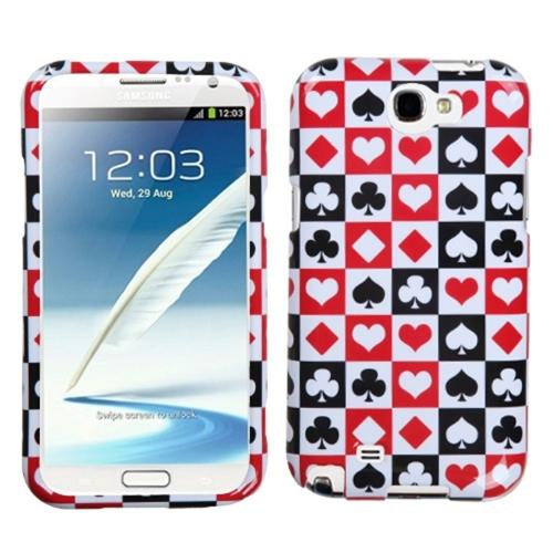Insten Card Suits Phone Case for SAMSUNG: Galaxy Note II (T889/I605/N7100)