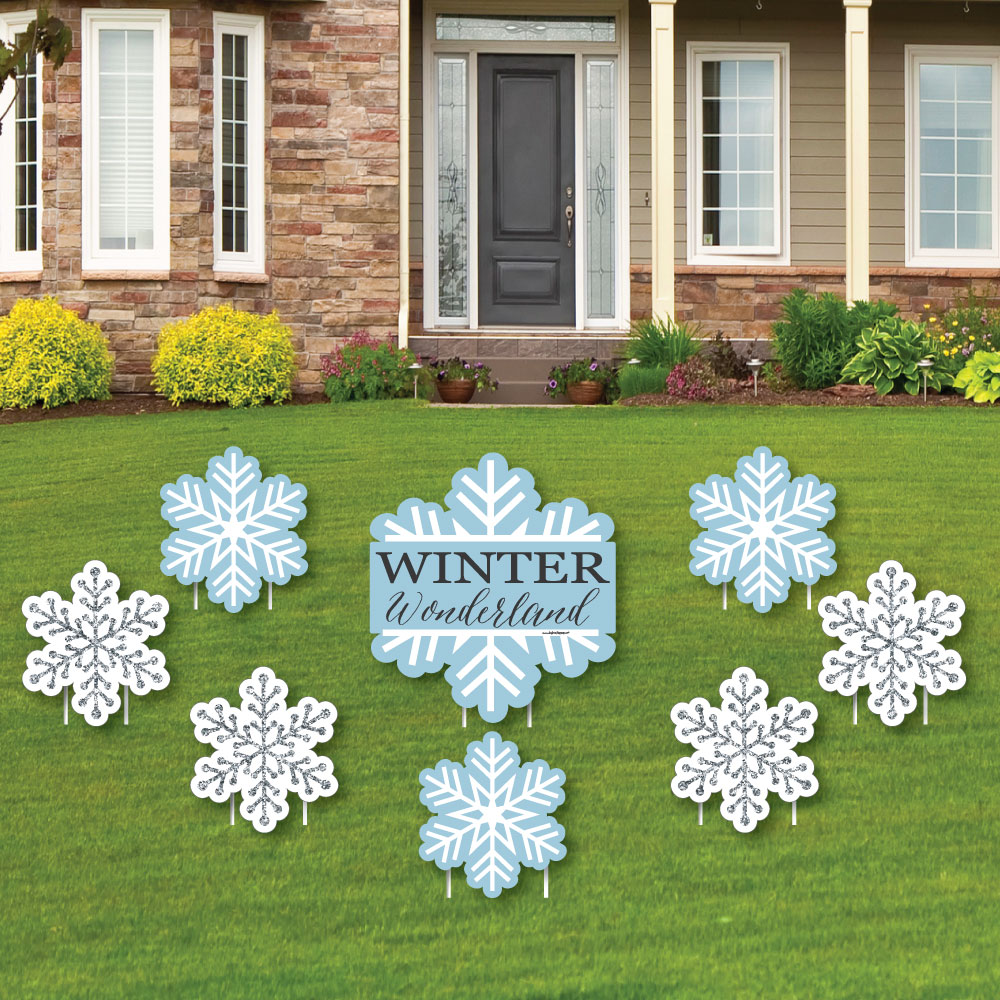 Big Dot of Happiness Winter Wonderland - Yard Sign & Outd...