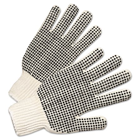 Brand Regular-Weight PVC-Dot String-Knit Gloves, Men