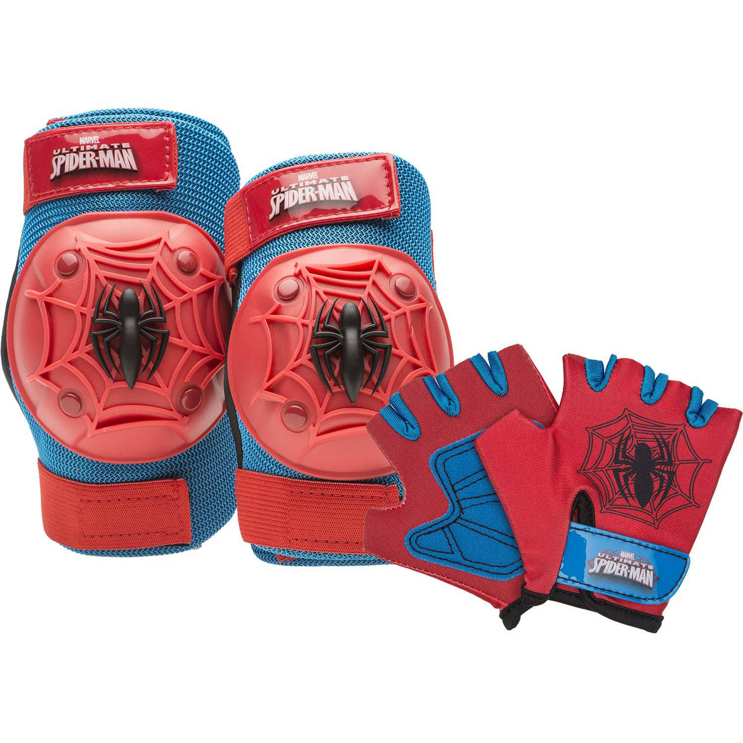 Bell Sports Spider-Man Webslinger Protective Pad Set, Red/Blue