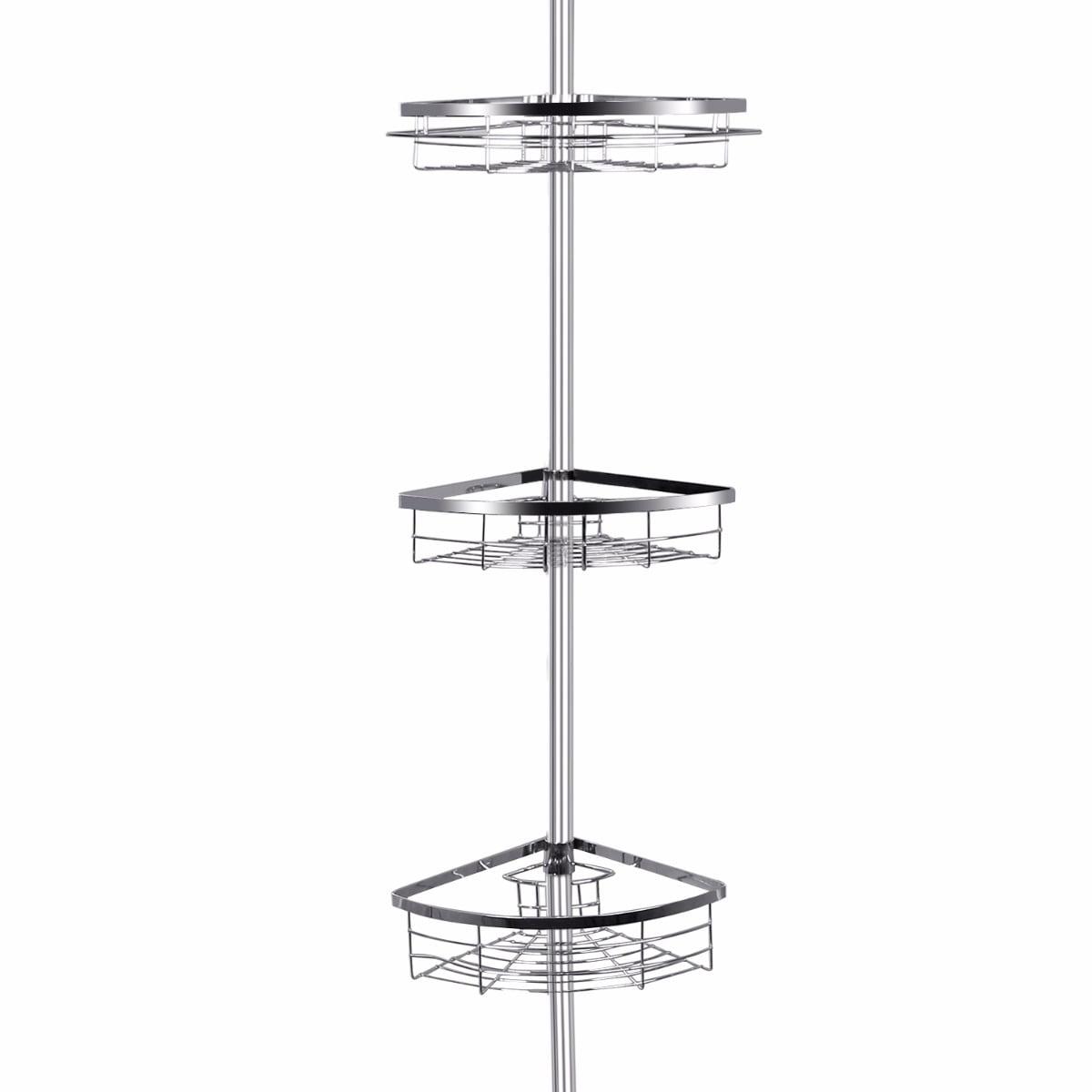 Lifewit Corner Shower Caddy 3 Tier Adjustable Bathroom Constant Tension Corner Pole Caddy... by