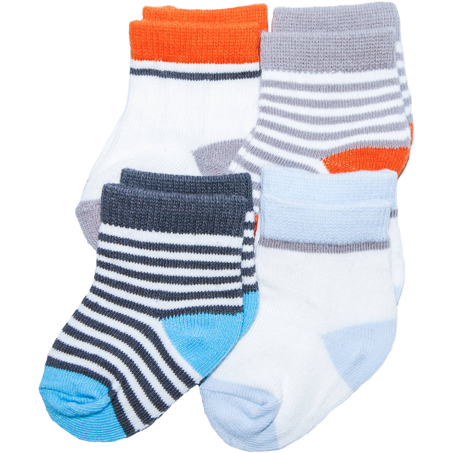 Child of Mine by Carter's Newborn Baby Boy 4-Pack Terry Cuff Socks