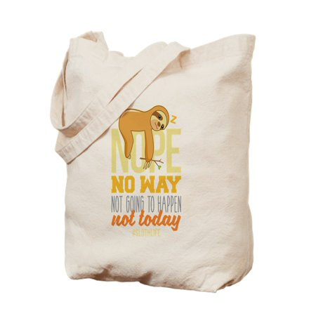 CafePress - Nope No Way Not Going To Happen Today Slo - Natural Canvas Tote Bag, Cloth Shopping (Best Way Go Natural)