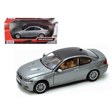 BMW M3 E92 Coupe Gray 1/24 Diecast Model Car by Motormax Bmw M3 Coupe Car