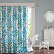 Intelligent Design Ari Shower Curtain 72x72 Aqua