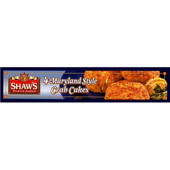 Shaws Premium Seafood Maryland Style Crab Cakes 4ct Walmart