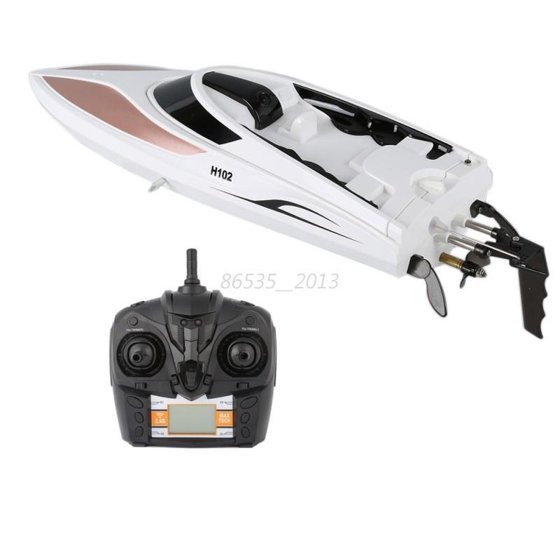 ENJOY 150 M 2 4GHz High Speed Electric RC Boat 4Channel Water Cooling  Racing Model Boat Gift Toy ABS