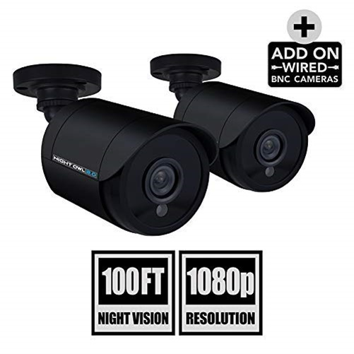 Night Owl 2 Megapixel Surveillance Camera - Color - 100 ft Night Vision - 1920 x 1080 - 3.60 mm - Cable - Bullet