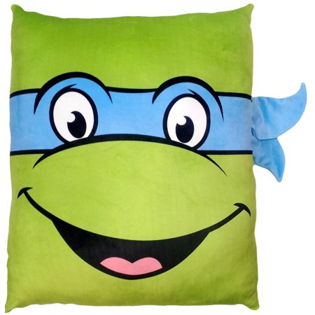 Nickelodeon TMNT Leonardo 24in Square 3D Ultra Stretch Travel Cloud