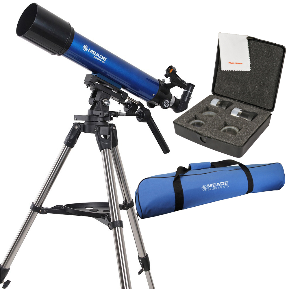 Meade Infinity 90mm Refractor Telescope w  Travel Bag & Eyepiece Accessory Kit by Meade