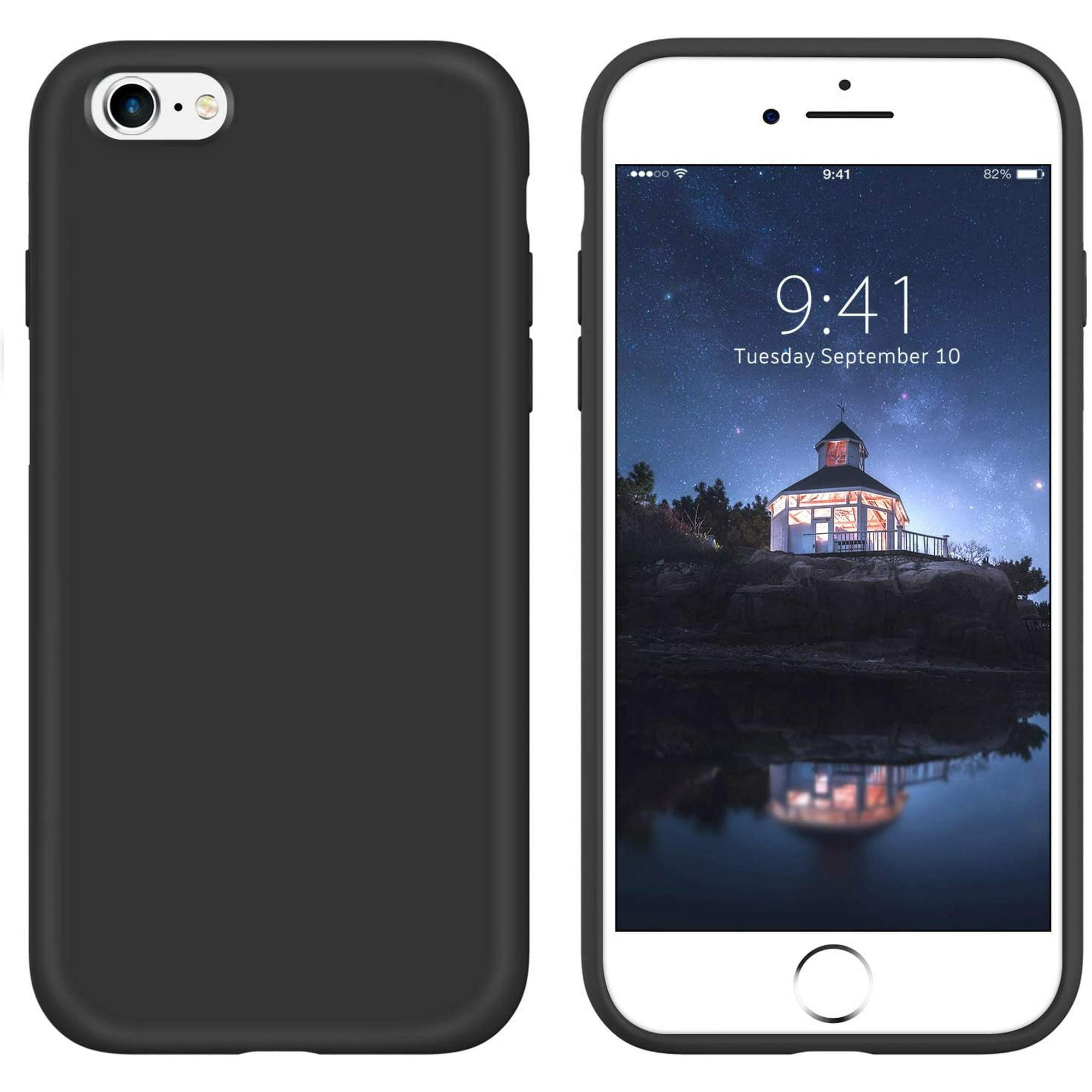 iPhone 6s Case iPhone 6 Case Liquid Silicone, GUAGUA Soft Gel Rubber Slim Lightweight Microfiber Lining Cushion Texture