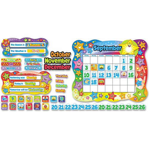 Trend Star Calendar Bulletin Board Set