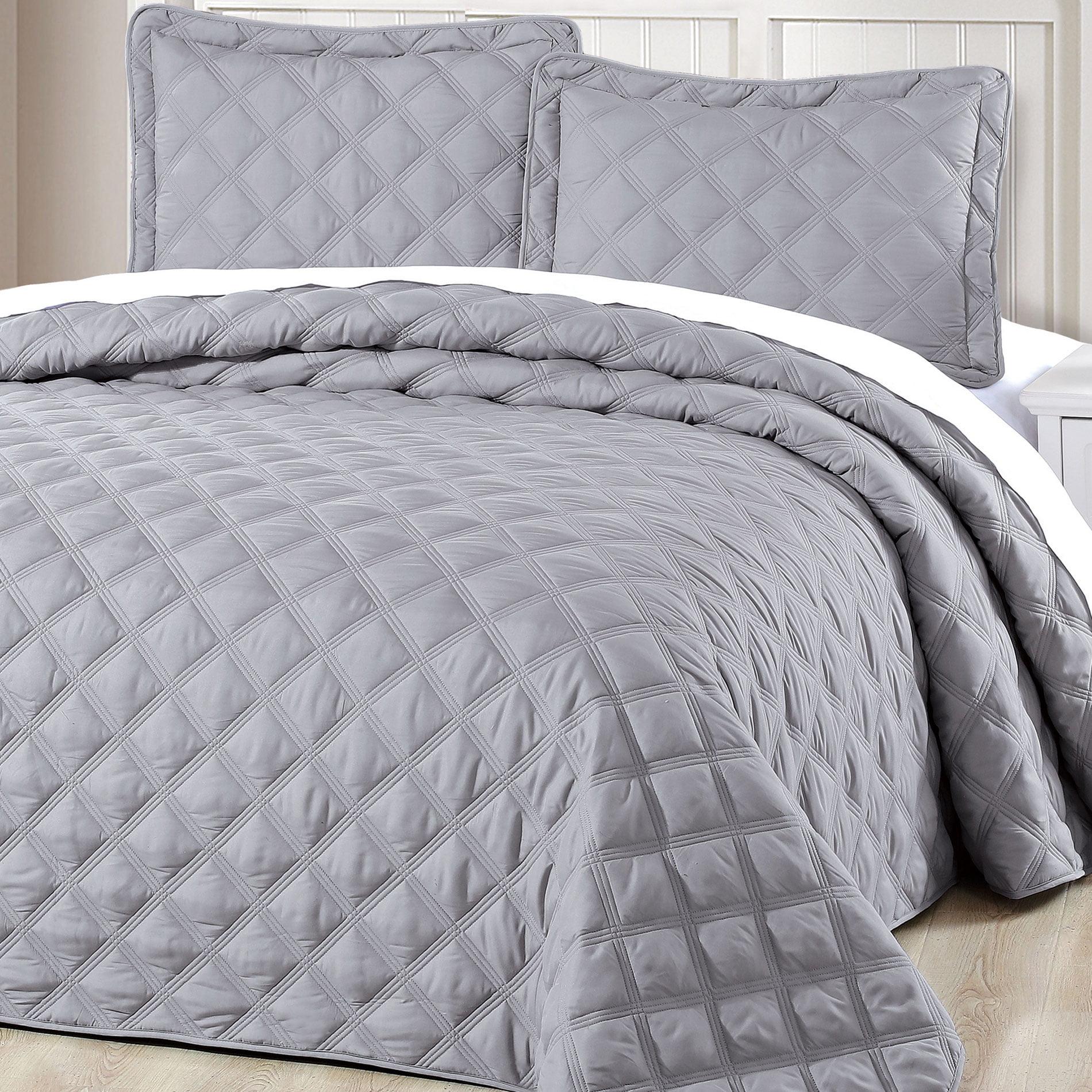 Serenta Charleston Down Alternative Quilted 3 Piece Bedspread Set