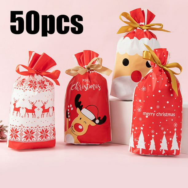 50pcs christmas drawstring gift bag christmas gift bags reusable with ribbon gift bag drawstring pouch for wedding party candy biscuit walmart com walmart com 50pcs christmas drawstring gift bag christmas gift bags reusable with ribbon gift bag drawstring pouch for wedding party candy biscuit