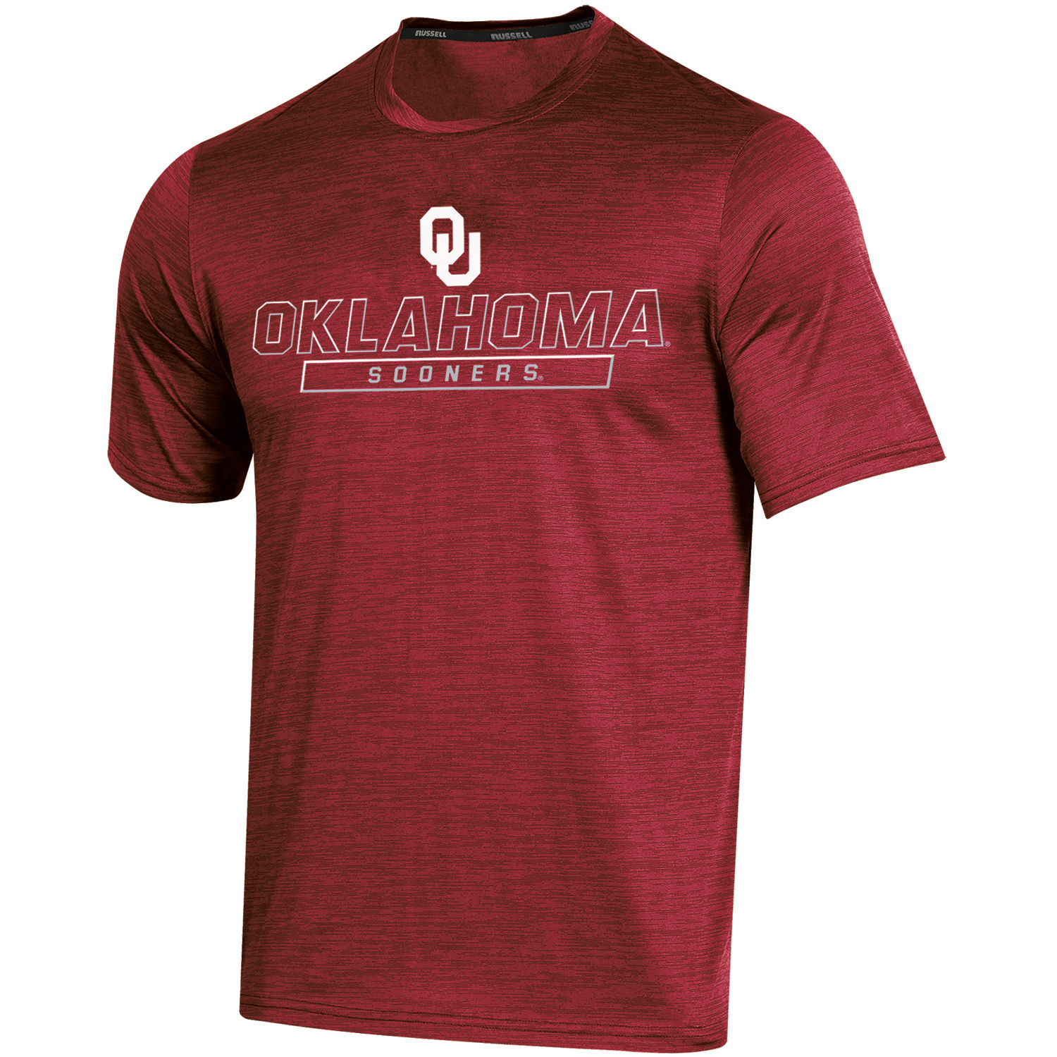 Men's Russell Crimson Oklahoma Sooners Synthetic Impact T-Shirt