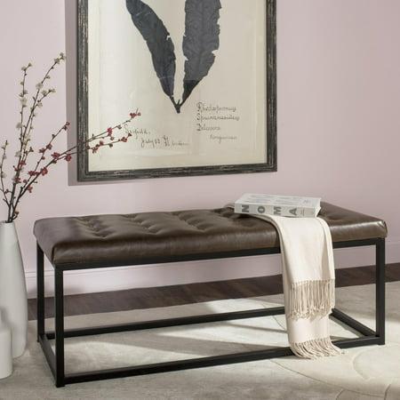 Safavieh Reynolds Bicast Leather Bench, Multiple Colors