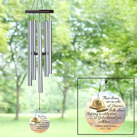Personalized Heaven's Bells Memorial Wind Chime - Personalized Memorial Wind Chimes