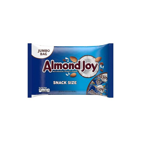 ALMOND JOY Snack Size Candy Bars, 20.1 Ounces, 2 Pack