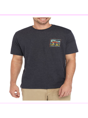 GH Bass Men's Regular fit Graphic Crewneck Short Sleeve Tee XL/Navy Blazer HTR