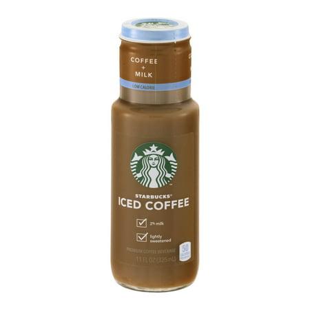 Starbucks Iced Coffee Coffee+Milk Low Calorie, 11.0 FL OZ ...