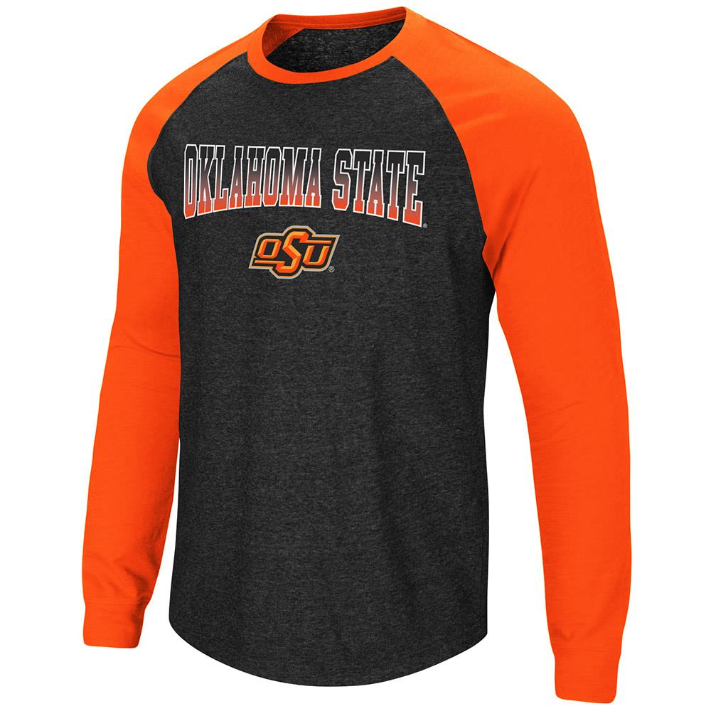 best loved 48839 af20e Mens Oklahoma State Cowboys Long Sleeve Raglan Tee Shirt - L