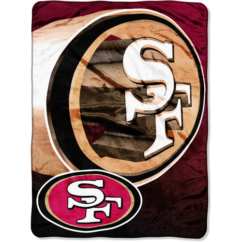 "NFL Bevel 60"" x 80"" Micro-Raschel Throw, 49ers"