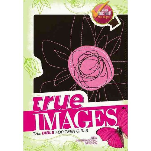 True Images: New International Version, Pink Flower, Italian Duo-Tone, The Bible for Teen Girls