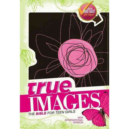 True Images  New International Version  Pink Flower  Italian Duo Tone  The Bible For Teen Girls