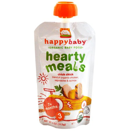Nurture Inc. (Happy Baby), Organic Baby Food, Hearty Meals, Chick Chick, Stage 3, 4 oz(pack of 1)