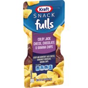 Kraft Trios Snackfulls Colby and Monterey Jack, Semisweet Chocolate and Banana Chips, 2.25 oz Package