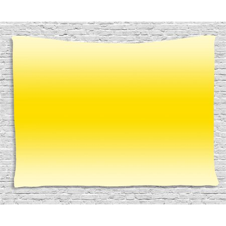 Ombre Tapestry, Sun kissed Summer Hot Beach Inspired Ombre Design Digital Printed Room Decorations, Wall Hanging for Bedroom Living Room Dorm Decor, 60W X 40L Inches, Yellow, by Ambesonne