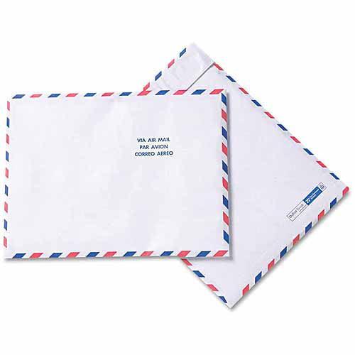 """SURVIVOR Tyvek USPS Air Mail Mailer, Side Seam, 10"""" x 13, White, 100/Box"""