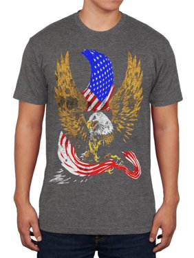 4821c3153e Product Image 4th of July Screaming Bald Eagle of Freedom Mens Soft T Shirt